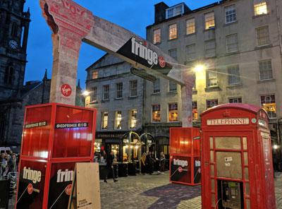 Edinburgh Royal Mile on a Fringe Evening