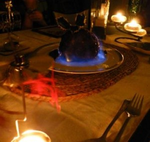 The Flaming Pudding